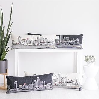 Oklahoma City Skyline Pillow