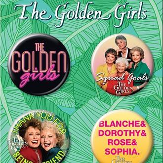Golden Girls Button Set – Friends