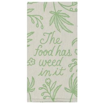 Food Has Weed Dishtowel